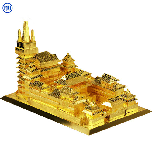 Jing An Temple Gold DIY Metal Model Kit | MU Model