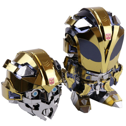 Transformers 5 Changeable Head Bumblebee - DIY Metal Model Kit | MU Model