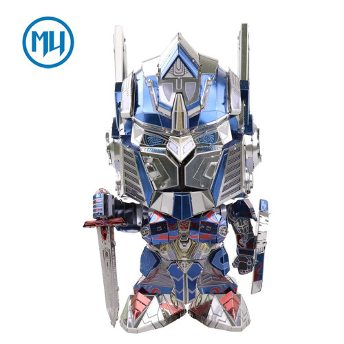 Transformers 5 Changeable Head Optimus Prime - DIY Metal Model Kit | MU Model