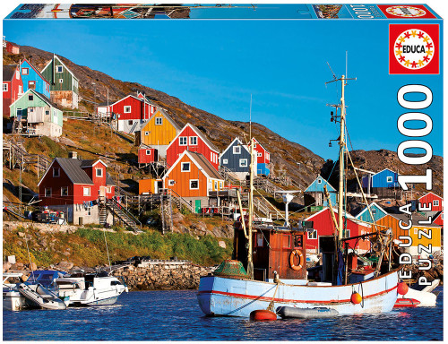 Nordic Houses 1000 Piece Jigsaw Puzzle, Educa
