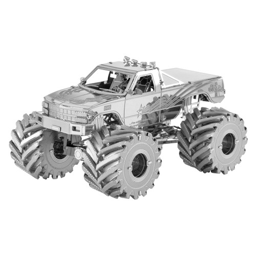 Monster Truck Metal Earth Model