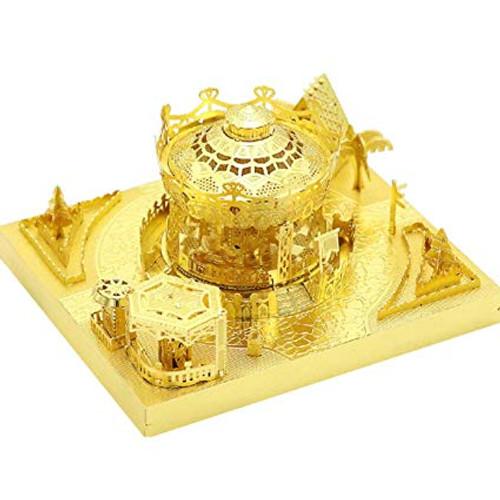 Amusement Park Merry Go Round Module Gold Metal Model Kit [Includes LEDs & Battery] | MU Model