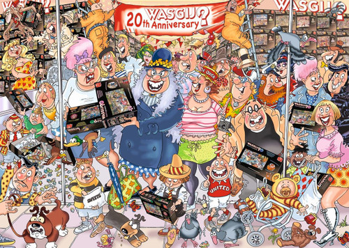 2-in-1, 2 x 1000 Pieces Party Parade Wasgij Puzzles | Jumbo