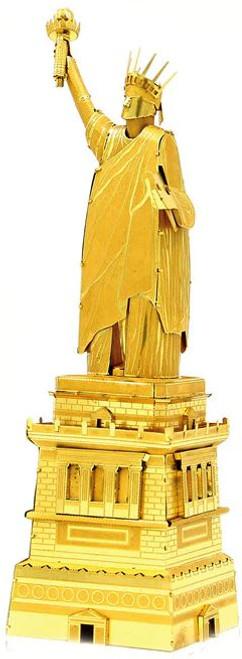 Statue of Liberty, Gold - DIY Metal Model Kit | Microworld