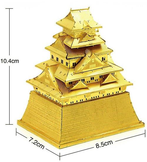Osaka Castle, Gold - DIY Metal Model Kit | Microworld