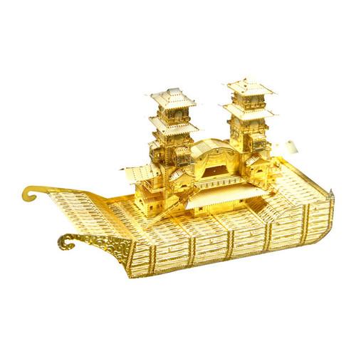 Yangzhou Boat, Gold - Metal Model Kit | Microworld