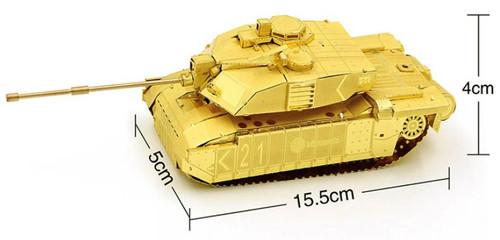 FV 4034 Challenger 2 Tank - Gold - Metal Model Kit | Microworld