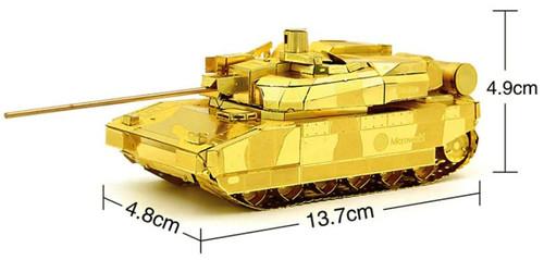 Leclerc MBT Tank - Gold - Metal Model Kit | Microworld