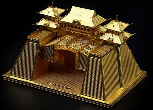 City Gate of Yangzhou - Gold - Metal Model Kit   Microworld
