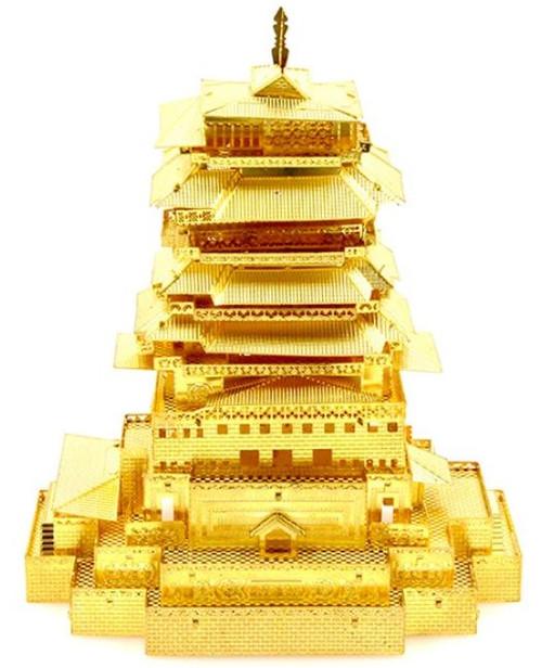 Yuewang Tower - Gold - Metal Model Kit   Microworld