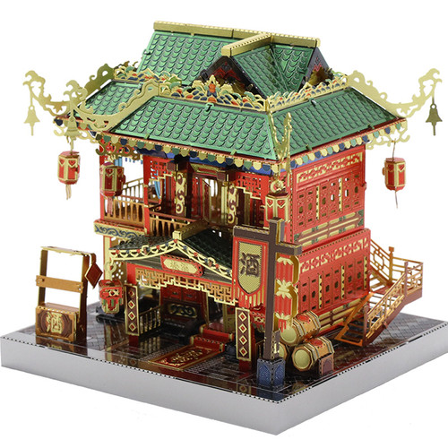China Town Zui Xiao Tower Metal Model Kit [Includes LEDs & Battery!] | MU Model