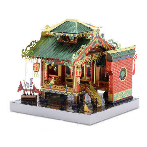 China Town Chinese Traditional Architecture Metal Model Kit [Includes LEDs & Battery!] | MU Model