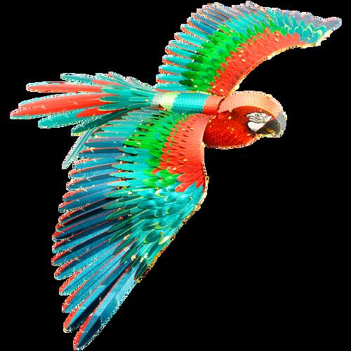 Parrot Full Color Metal Model Kit | Iconx