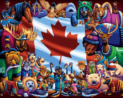 The Three Little Pigs & Animals of Canada, Two 100 Piece Jigsaw Puzzles In One Box | Dowdle