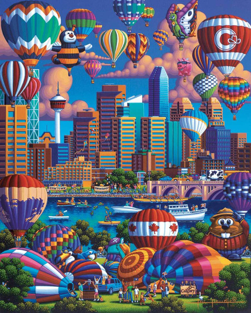 Best of Canada & Above Calgary, Two 1000 Piece Jigsaw Puzzles In One Box | Dowdle