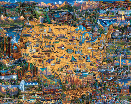 National Parks 500 Piece Jigsaw Puzzle | Dowdle