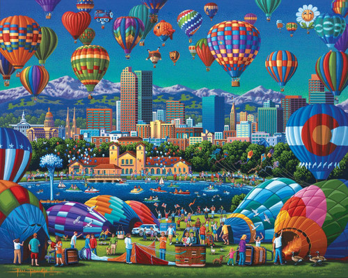 Above Denver 500 Piece Jigsaw Puzzle | Dowdle
