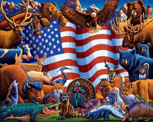 Animals of America 500 Piece Jigsaw Puzzle   Dowdle