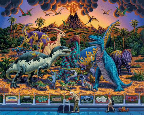 Dinosaur Museum 500 Piece Jigsaw Puzzle   Dowdle