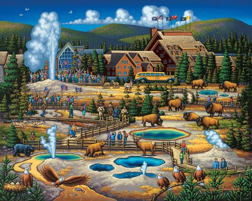 """Yellowstone National Park"" 500 Piece Jigsaw Puzzle   Dowdle"