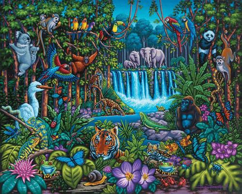Wild Jungle 100 Piece Jigsaw Puzzle | Dowdle