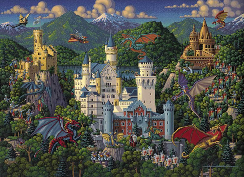 Imaginary Dragons 100 Piece Jigsaw Puzzle | Dowdle