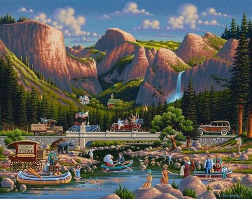 Yosemite 500 Piece Jigsaw Puzzle | Dowdle