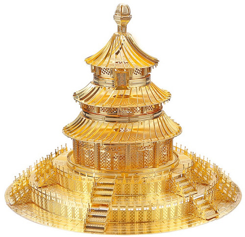 """Temple of Heaven"" Gold Metal Model Kit 