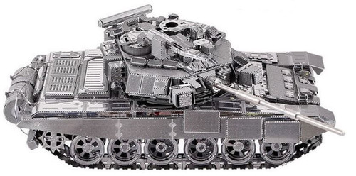 Russian T-90A Tank Metal Model Kit | Piececool