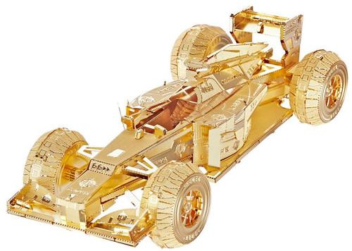 Formula 1 Race Car - Gold - Metal Model Kit | Piececool