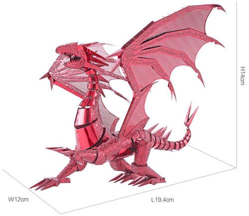 Red Dragon Metal Model Kit | Piececool