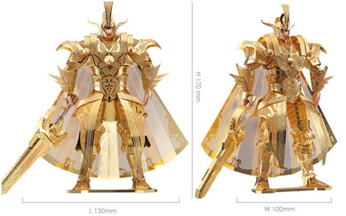 The Colonel of Qin Empire - Gold - Metal Model Kit | Piececool