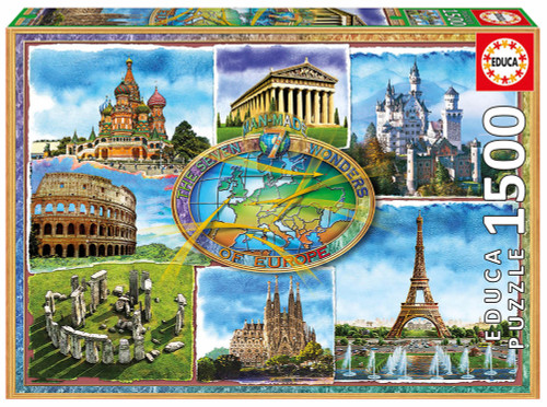 Seven Wonders of Europe, 1500 Pieces, Educa