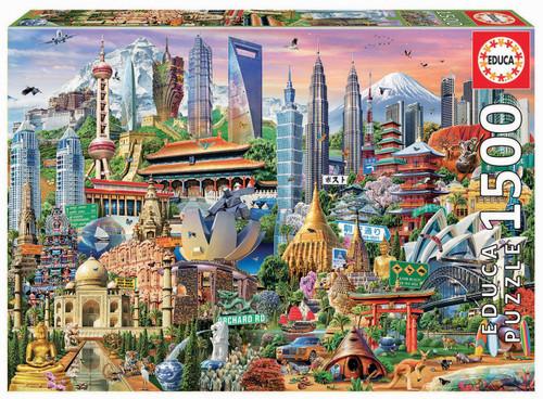 Asia Landmarks, 1500 Pieces, Educa