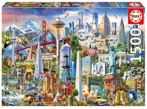 North America Landmarks, 1500 Pieces, Educa