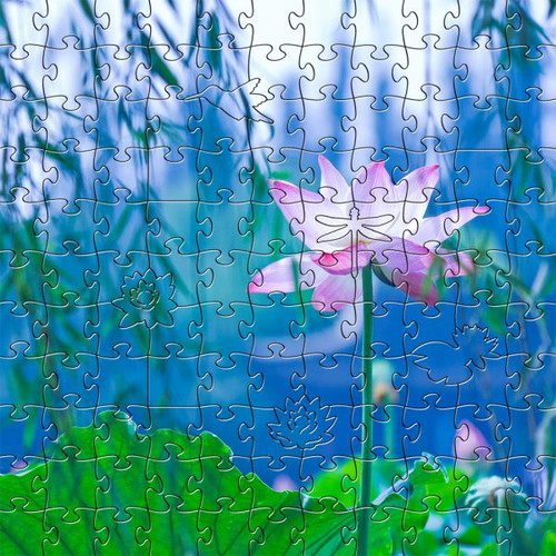 Waterlily 125 Piece Small Size Wooden Jigsaw Puzzle   Zen Puzzles