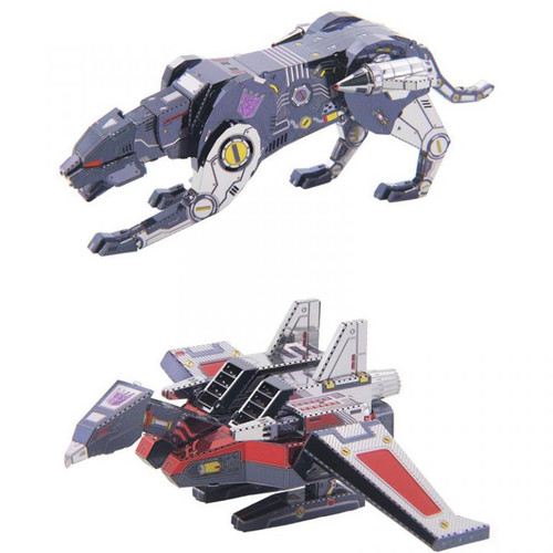 Transformers G1 Cassette Tape Laserbeak + Ravage - DIY Metal Model Kit | MU Model