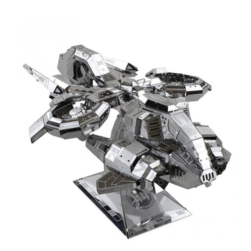 Banshee Gunship Aircraft (Thunderhawk) - Silver - DIY Metal Model Kit | MU Model