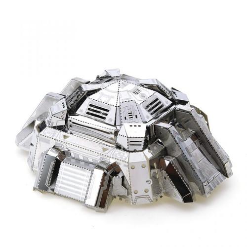 Bunker (Blockhouse) Silver - DIY Metal Model Kit | MU Model