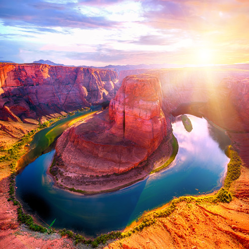 Horseshoe Bend 126 Piece Small Wooden Jigsaw Puzzle | Zen Puzzles