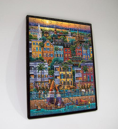 """Charleston 150 Piece, 8"""" x 11"""", Wooden Travel Puzzle   Dowdle Puzzles"""