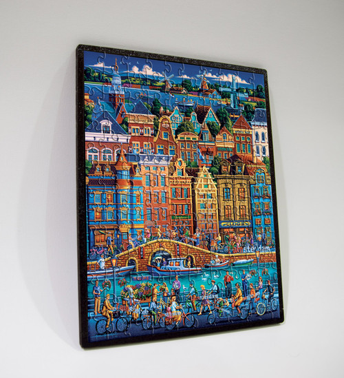 "Amsterdam 150 Piece, 8"" x 11"", Wooden Travel Puzzle 