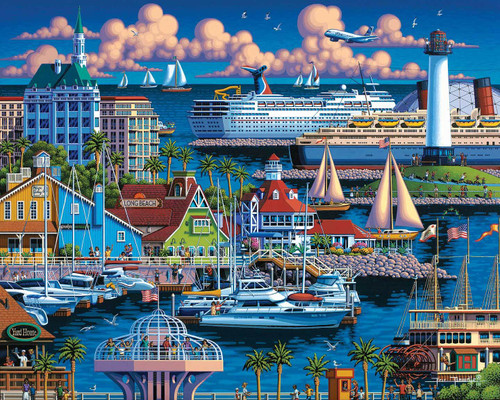 Long Beach: 300 Piece Classic Wooden Jigsaw Puzzle | Dowdle Puzzles