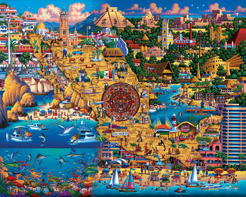 Best of Mexico: 300 Piece Classic Wooden Jigsaw Puzzle | Dowdle Puzzles