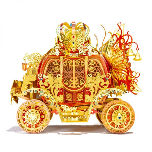Princess Carriage - Red & Gold - Metal Model Kit (With LED Lights!) | MU Models