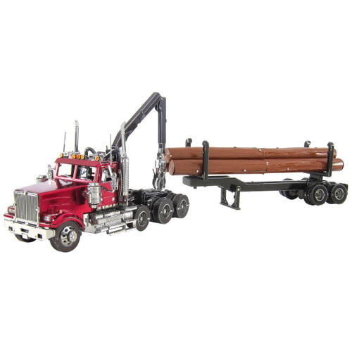 Western Star 4900 Log Truck & Trailer | Metal Earth Model
