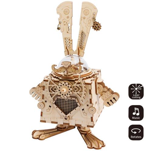 Bunny Steampunk Music Box | Robotime