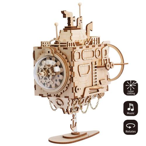 Submarine Steampunk Music Box | Robotime