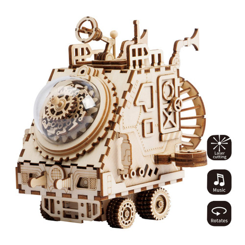 """Space Vehicle"" Extra-Terrestrial Vehicle Steampunk Music Box 