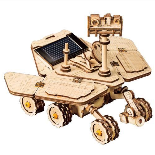 """Vagabond Rover"" *Solar Powered* Spirit Mars Rover Wooden Model Kit | Rokr"